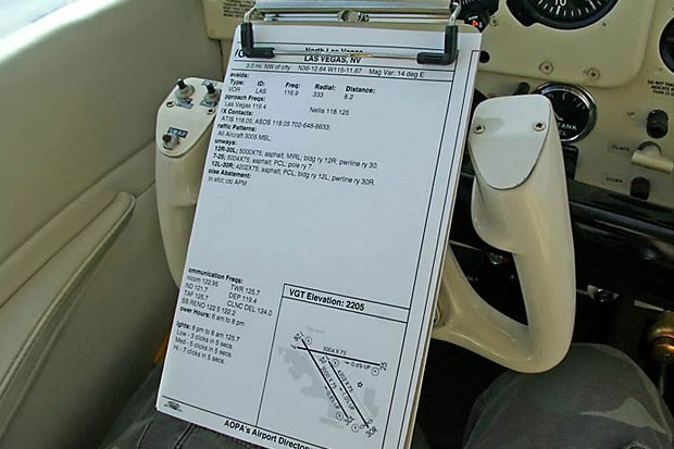 Approach Plate Holder For Beechcraft Angerole
